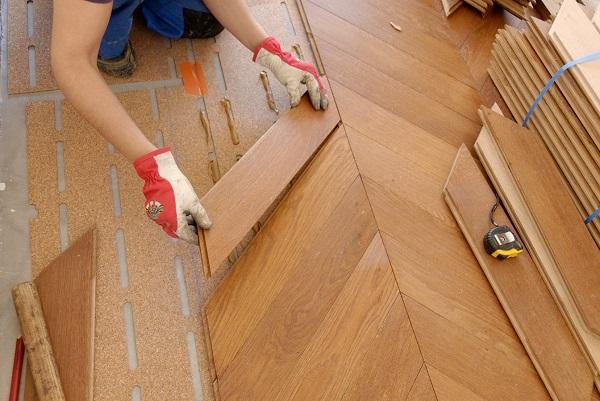 Укладки штучного паркета на деревянное основание с использованием гвоздей