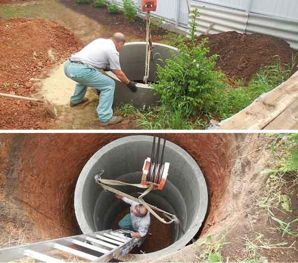 Система канализации септик